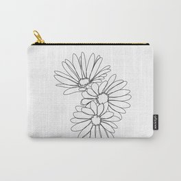 Daisies botanical illustration - Jo Carry-All Pouch
