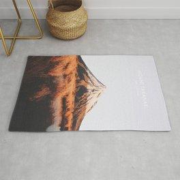 Mount Taranaki, New Zealand Travel Artwork Rug