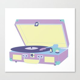 Pastel Turntable Canvas Print