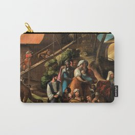 1520 Classical Masterpiece 'Entering into the Ark' by Dosso Dossi Carry-All Pouch