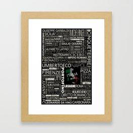 ITALIA Mia... Framed Art Print