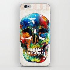 Colorful Skull Art - Aye Candy - By Sharon Cummings iPhone & iPod Skin