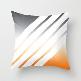 White Striped Gradient Throw Pillow