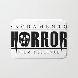 Sacramento Horror Film Festival Black Logo Bath Mat
