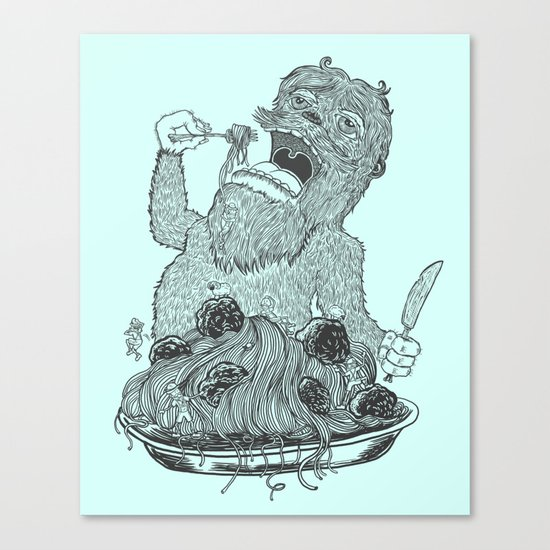 Yeti Spaghetti Canvas Print
