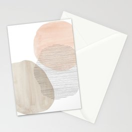 Pastel tone abstract shapes Stationery Cards