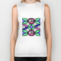 mosaic Biker Tanks featuring Mosaic by Elena Indolfi