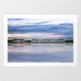 Rainbow houses in Netherlands Art Print