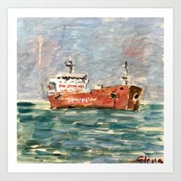 Galveston Ship Channel Art Print
