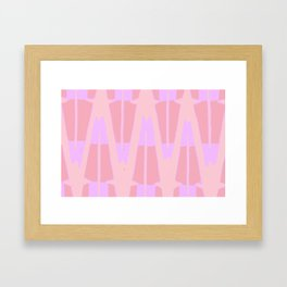 Pink and Purple Framed Art Print