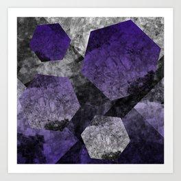 flatland (purple) Art Print