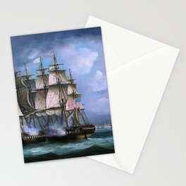 Hms Shannon Boards Uss Chesapeake Off Boston - Thomas Buttersworth Stationery Cards