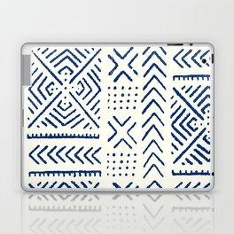 Line Mud Cloth // Ivory & Navy Laptop & iPad Skin