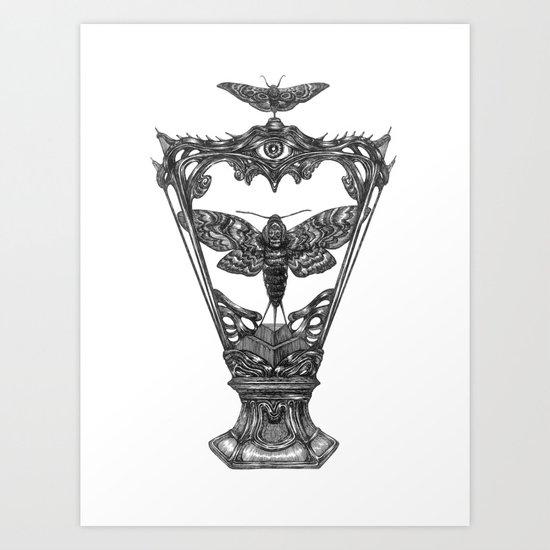 Moth Holy Grail Art Print