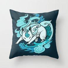 Ghostfire Fox Throw Pillow