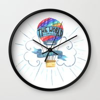 tolkien Wall Clocks featuring The World Is Out There; The Hobbit, J.R.R. Tolkien by astoldbycaro
