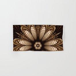 Abstract flower mandala with geometric texture Hand & Bath Towel