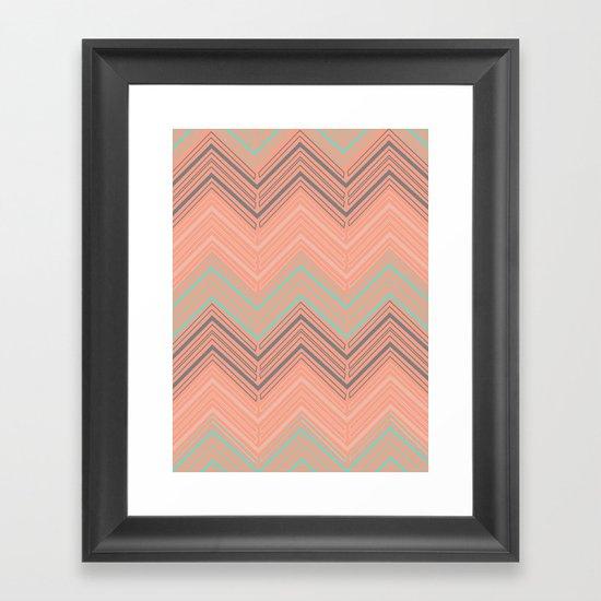 Soft Chevron Framed Art Print