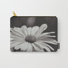 Single Daisy BW Carry-All Pouch
