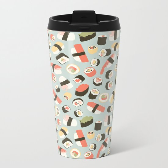 Yummy Sushi! Metal Travel Mug