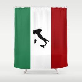 Italian Flag & Boot Shower Curtain