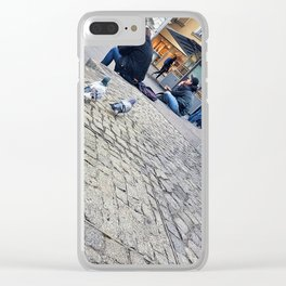 Pigeons in Maribor Clear iPhone Case