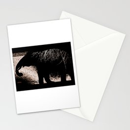Night elephants Stationery Cards