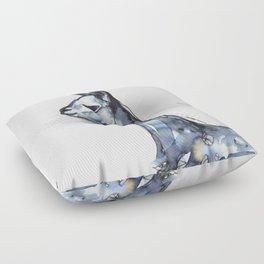 Vicuna Watercolor Sketch Floor Pillow