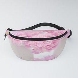 Romantic Shabby Chic Pink Peonies White Jars   Fanny Pack
