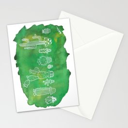 Cacti Line Up Stationery Cards