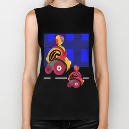 Faster and faster. Biker Tank