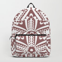 Starfish Chocolate White Art Deco' Elegant Backpack