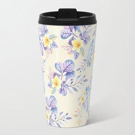 Lavender yellow purple watercolor modern floral Travel Mug