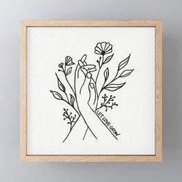 Let Love Grow Framed Mini Art Print