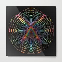 Delicate Repetition Metal Print