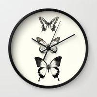 butterflies Wall Clocks featuring Butterflies // Align by Amy Hamilton