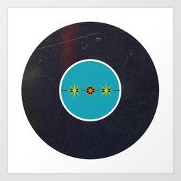 Vinyl Record Art & Design   Mid-Century Modern Starburst Art Print