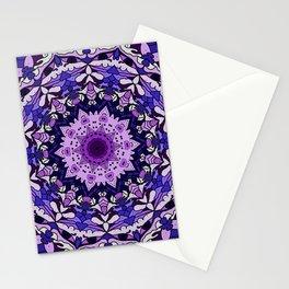 indigo aurora mandala Stationery Cards