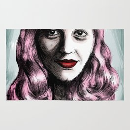 Sylvia Plath_Pink Blue Rug