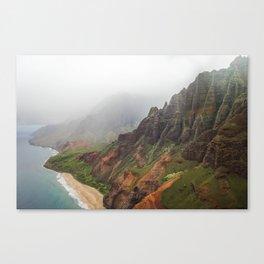 Wild Tropical Mountain Beach Canvas Print