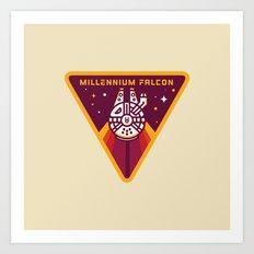 Millennium Falcon YT-1300  Pilot Patch Art Print