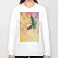 batik Long Sleeve T-shirts featuring BATIK GREEN by AlyZen Moonshadow
