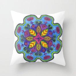 Bejewelled Mandala Throw Pillow