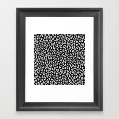 Gray Black Leopard Framed Art Print