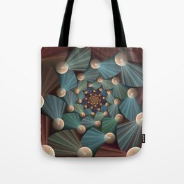 Graphic Design, Modern Fractal Art Pattern Tote Bag