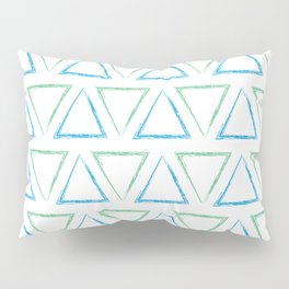Peaks - Teal & Blue #977 Pillow Sham