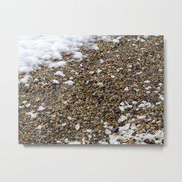 Snow, Pebbles, and Petals Metal Print