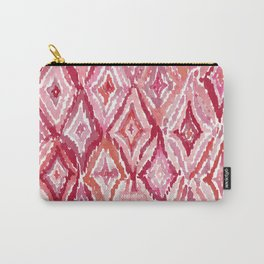 Red BRIGHT LIKE A DIAMOND Moroccan Print Carry-All Pouch