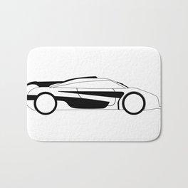 Modern Fast Car Outline Bath Mat