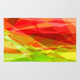 Red Rose with Light 1 Abstract Polygons 3 Rug